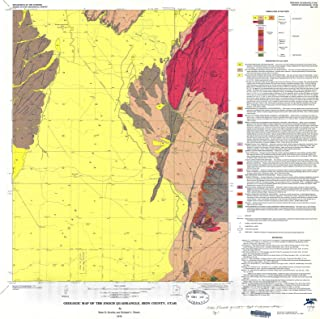 Historic Pictoric Map : Geologic map of The Enoch Quadrangle, Iron County, Utah, 1976 Cartography Wall Art : 36in x 36in