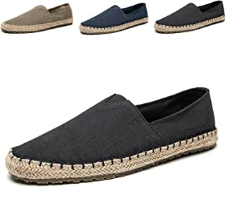 CASMAG Mens Fashion Casual Cloth Shoes Canvas Slip-on Loafers Espadrille Leisure Walking Sneakers Moccasins