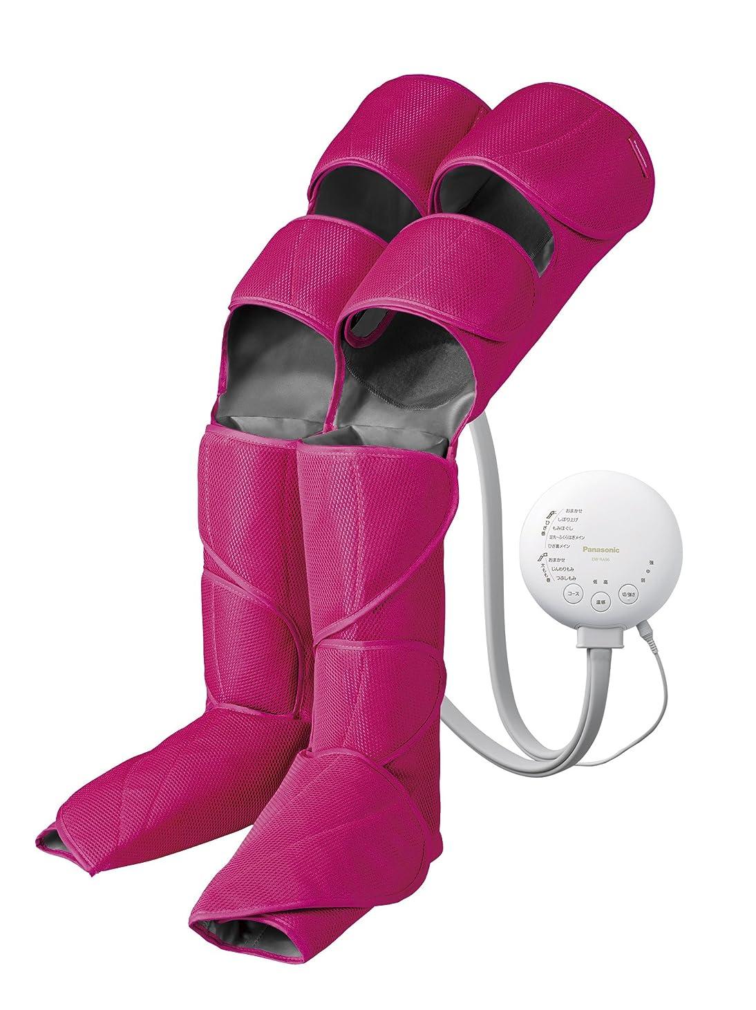 簡潔な上がる起こるパナソニック エアーマッサージャー レッグリフレ ひざ/太もも巻き対応 温感機能搭載 ピンク EW-RA96-P