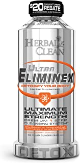 Ultra Eliminex Premium Same-Day Detox Drink by Herbal Clean for Fast Toxin Elimination for High Toxin Levels or Larger Body Mass | 32 Ounce Detoxify Your Body - New Flavor Strawberry Mango
