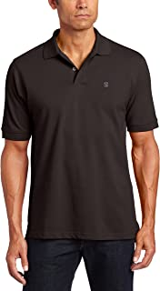 IZOD Men's Big and Tall Heritage Short Sleeve Solid Pique Polo