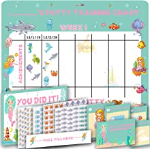 Potty Training Chart for Girls- Cute Mermaid and Sea Theme - 4 Week Reward Chart for Toddlers - Sticker Chart - Diploma Ce...