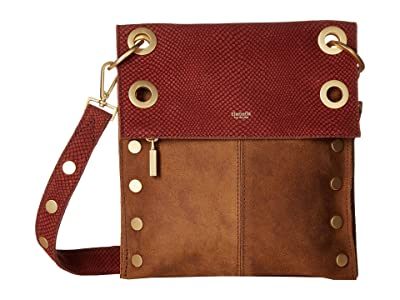 Hammitt Montana Rev Medium (Henna Snake/Arches Buffed/Arches/Brushed Gold) Handbags