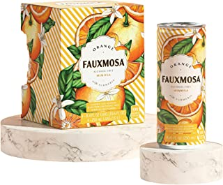 FAUXMOSA Alcohol-Free Mimosas | Best Premium Non-Alcoholic Cocktail, Made with California Grapes, Perfect C...