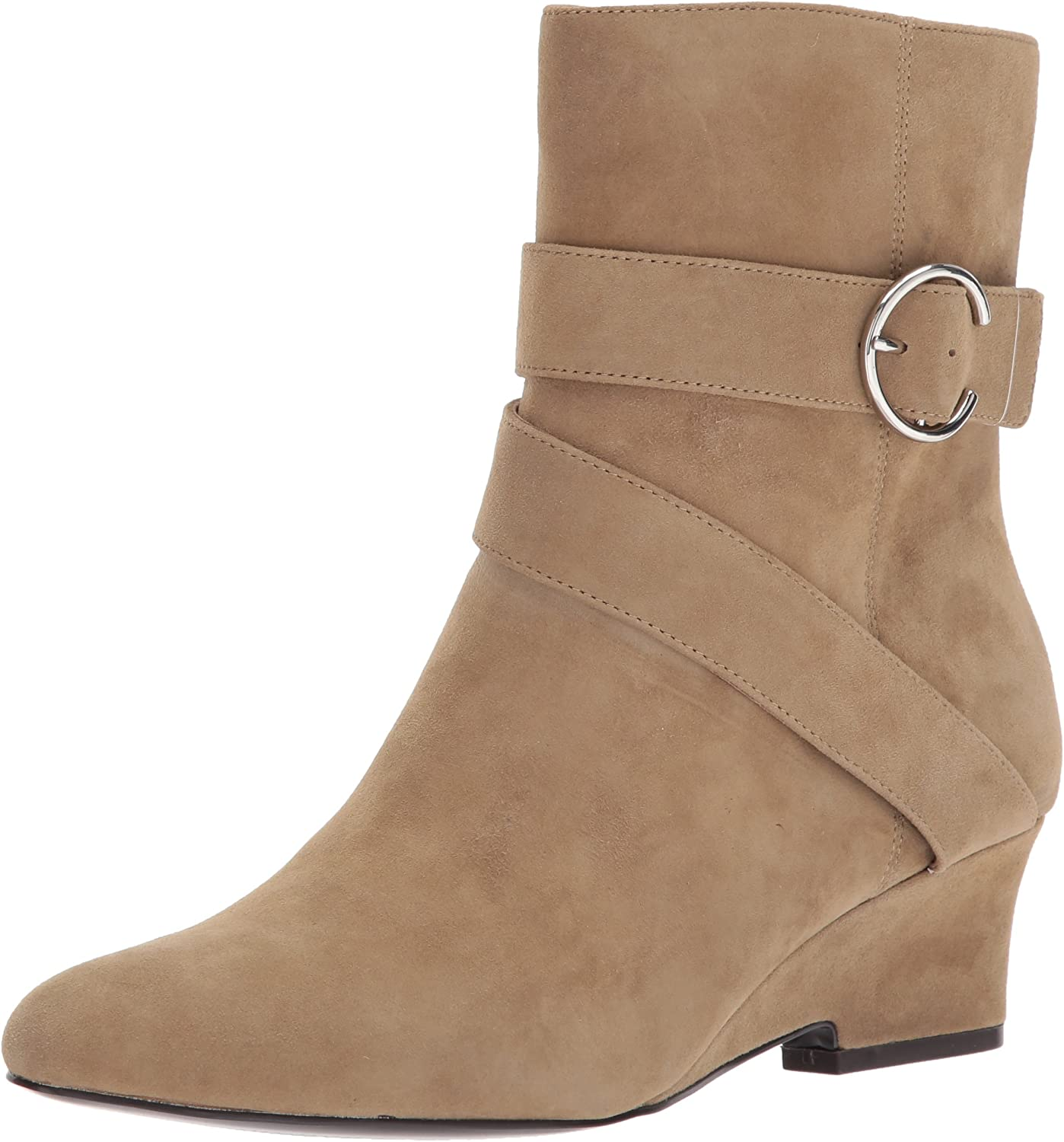 Nine West Womens JAUKED Suede Mid Calf Boot