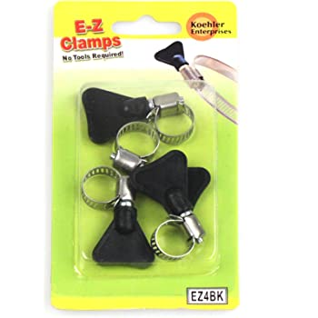 Koehler Enterprises EZ4BK EZ Clamp Blister Pack, 4 Piece (Micro Size 4, No Tools Required)