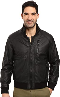 Calvin Klein Faux Leather Bomber
