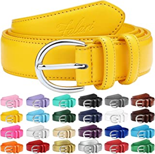 Women Genuine Leather Belt Fashion Dress Belt With Single Prong Buckle 6028-24 Colors