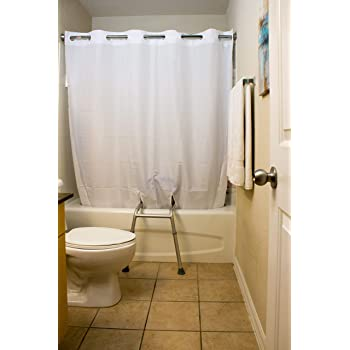 Simplicity Transfer Bench Shower Curtian 72 X 74 White