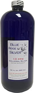 Blue Ridge Silver 10 ppm 32 oz Plata coloidal