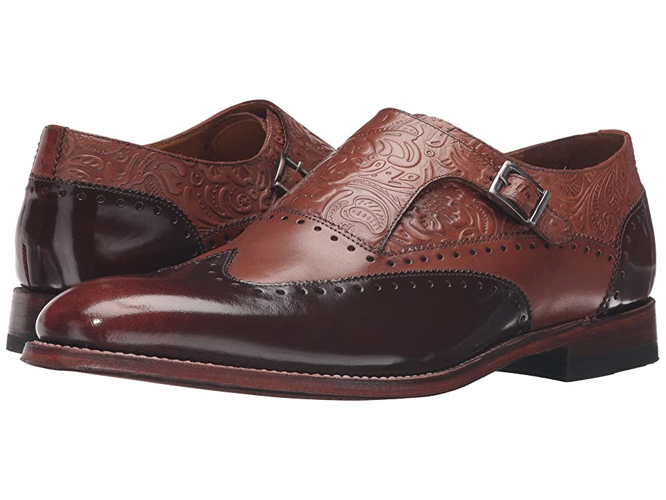 Mens Vintage Style Shoes| Retro Classic Shoes Stacy Adams Madison II Monk Strap Wingtip CognacHoney Brush-Off Mens Monkstrap Shoes $160.00 AT vintagedancer.com