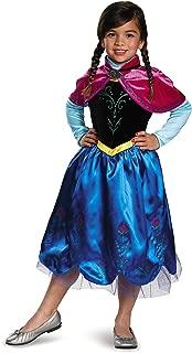 Anna Sparkle Deluxe Frozen Disney Costume, Small/4-6X