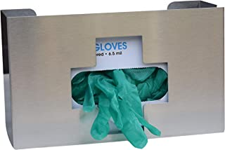 """Omnimed 305335 Medical Cross Glove Box Holder, 6"""" H X 10"""" L X 3.75"""" W, Stainless Steel"""
