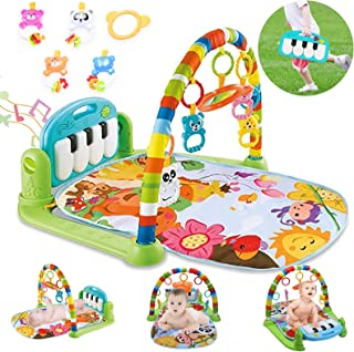 Baby Gym Jungle Musical Playmats For Floor, Kick And Play Piano Gym Activity Center With Music, Light, 5 Stimulating Senso...