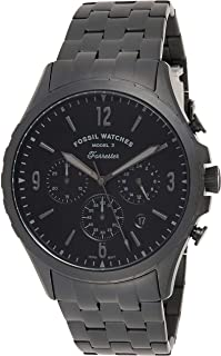 Fossil Forrester Chrono Men's Black Dial Stainless Steel Analog Watch - FS5697