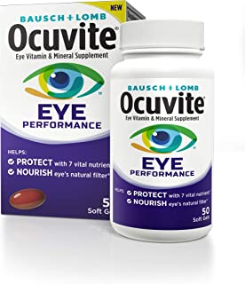 Bausch + Lomb Ocuvite Eye Performance Formula Soft Gels, 50 Count