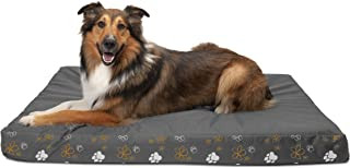 Furhaven Pet Dog Bed   Deluxe Mat Water-Resistant Indoor/Outdoor Polycanvas Traditional Foam Mattress Pet Bed w/Removable Cover for Dogs & Cats