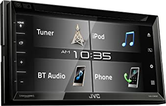 JVC KW-V340BT 6.2-inch Bluetooth DVD/CD/USB WVGA Receiver with 6.8-inch Clear Resistive Touch Control (Renewed)