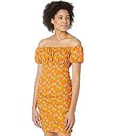 Off Shoulder Ruched Mini Dress