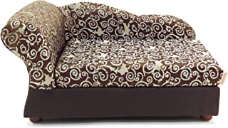 Moots Cleopatra Pet Chaise Lounge Bed Elegant Chocolate Brown, Medium