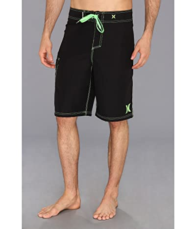 Hurley One Only Boardshort 22 (Black/Neon Green) Men