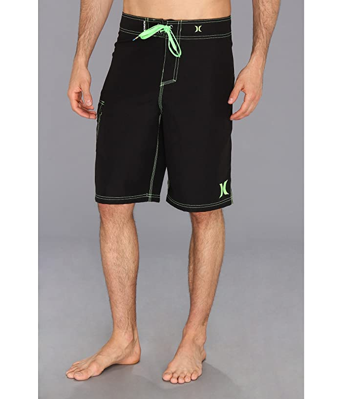 Hurley One Only Boardshort 22 (Black/Neon Green) Men