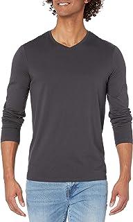Armani Exchange Men's V-Neck Pima Long Sleeve Shirt Sweatshirt