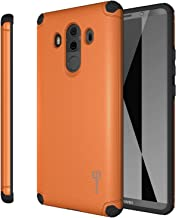 Huawei Mate 10 Pro Case, CoverON Bios Series Magnetic Car Mount Compatible Premium Protective Phone Cover for Mate 10 Pro - Orange and Black