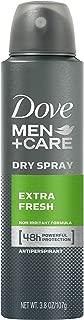 Dove Men+Care Dry Spray Antiperspirant Deodorant, Extra Fresh, 3.8 oz