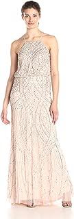 Women's Halter Fully Beaded Blouson Gown