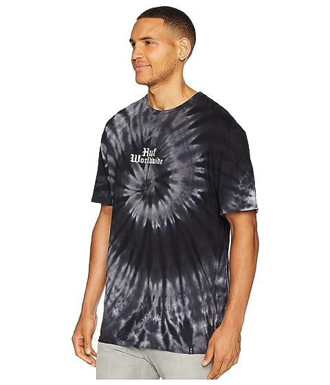 Tie HUF negra Dye corta Bird manga de Bar Camiseta qYAt1t