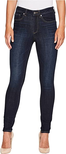 TWO by Vince Camuto - Indigo Denim Five-Pocket High Waisted Jeans in Dark Vintage