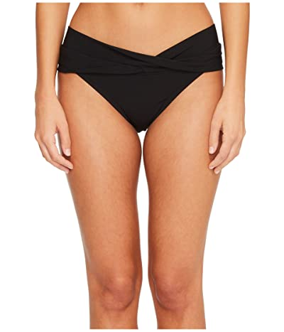 Robin Piccone Ava Twist Bikini Bottom (Black) Women