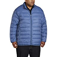 Men's Big & Tall Lightweight Water-Resistant Packable Puffer Jacket fit by DXL