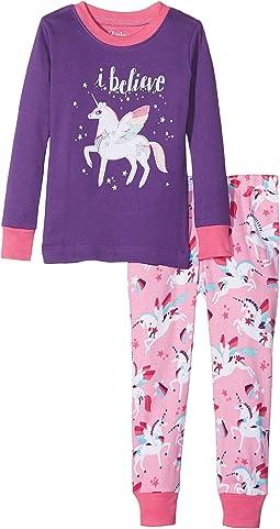 Hatley Kids - I Believe in Unicorns PJ Set (Toddler/Little Kids/Big Kids)