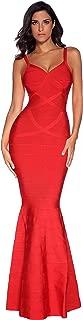 Women's Maxi Bandage Dress Fishtail Bodycon Formal Evening Dresses
