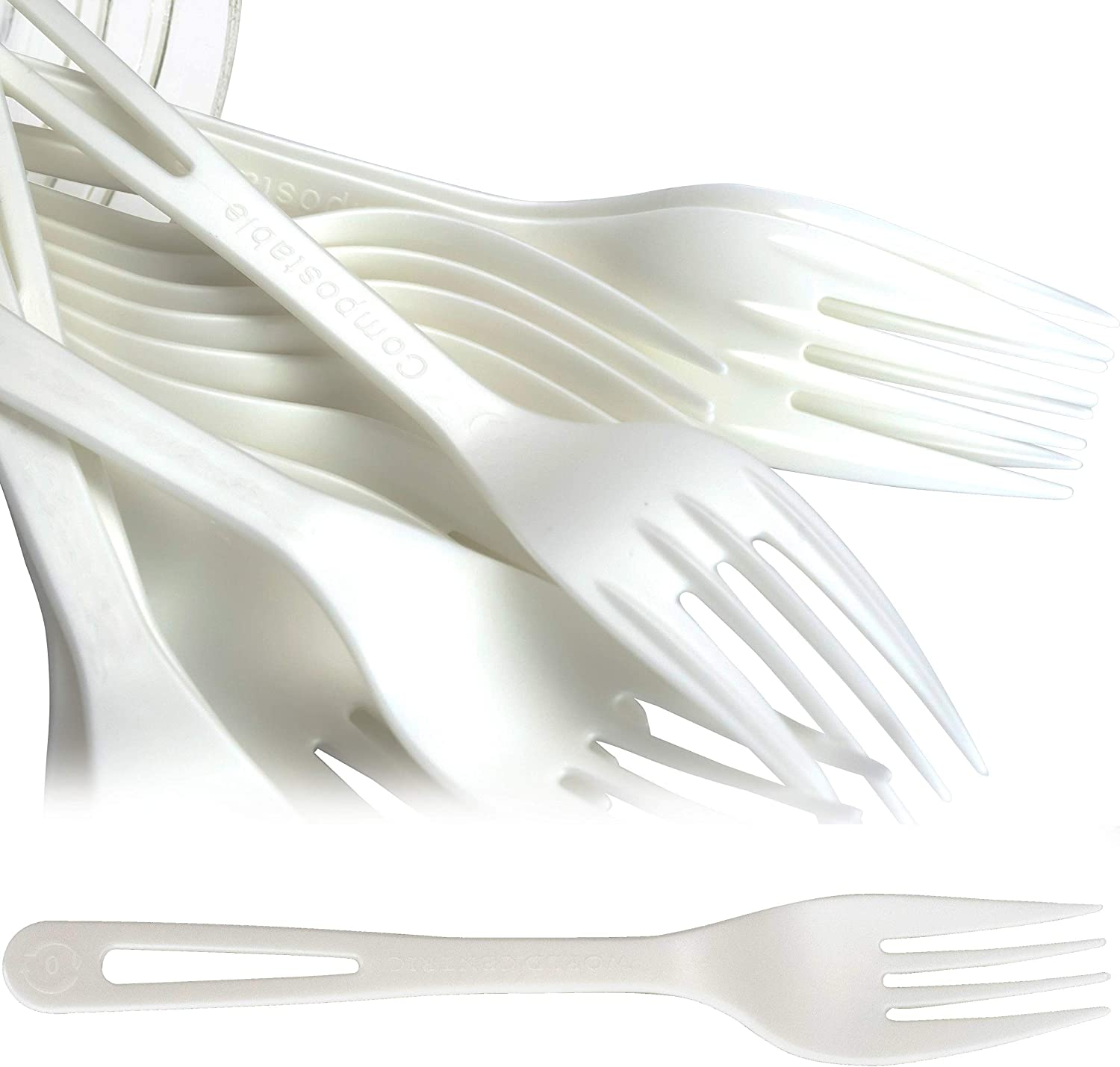 Biodegradable Forks Made From Popular standard Non-GMO Plastic Lowest price challenge 50 Pac Plant-Based