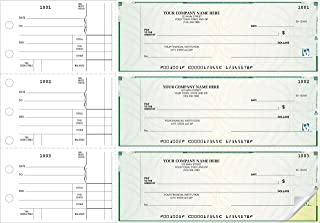 CheckSimple 3-Per-Page All-Purpose High Security Manual Business Checks (2-Part) - Counter Signature (250 Qty) - Custom