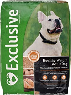 Exclusive Healthy Weight Adult Dog Food Chicken & Brown Rice Recipe, 15 lb Bag