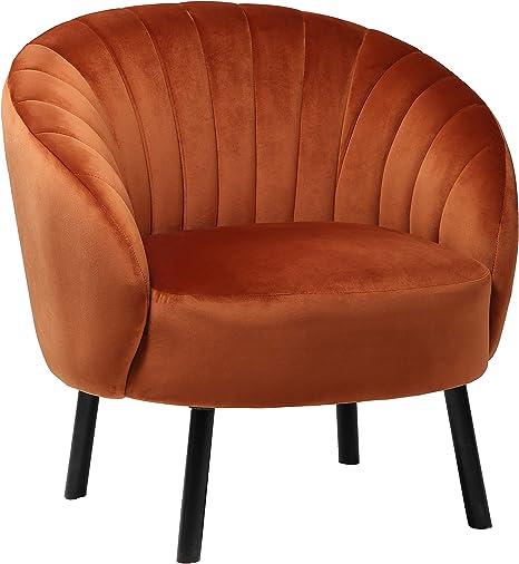 Hic High In The Clouds Modern Wohnzimmer Sessel Sitzhohe 40cm Mit U Formige Tuftingbespannung Lounge Tv Sessel Fur Wohnzimmer Und Schlafzimmer Sofa Stuhl Bis Orange 150 Kg Amazon De Kuche Haushalt