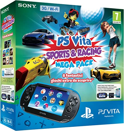 PlayStation Vita (PS Vita) - Console [Wi-Fi + 3G] Sports & Racing Mega Pack con Memory Card 8 GB [Bundle]