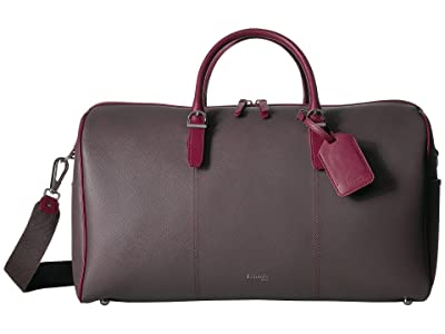 Lipault Paris Variation Duffel Bag (Grey/Raspberry) Duffel Bags