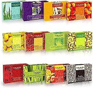 Vaadi Herbals Assorted Luxurious Handmade Herbal Soaps, 75g (Pack of 12)