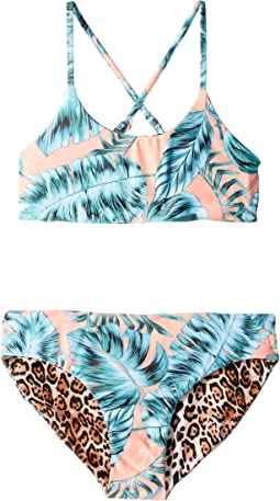Native Jungle Reversible Tankini (Little Kids/Big Kids)