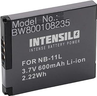 INTENSILO Li-Ion batería 600mAh (3.7V) para cámara videocámara Canon Ixus 125HS, 140, 132, 135, 145, 150, 155, 160, 165, 240HS, 260HS por NB-11L