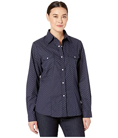 Roper 9896 Navy and Light Grey Dot Print (Blue) Women