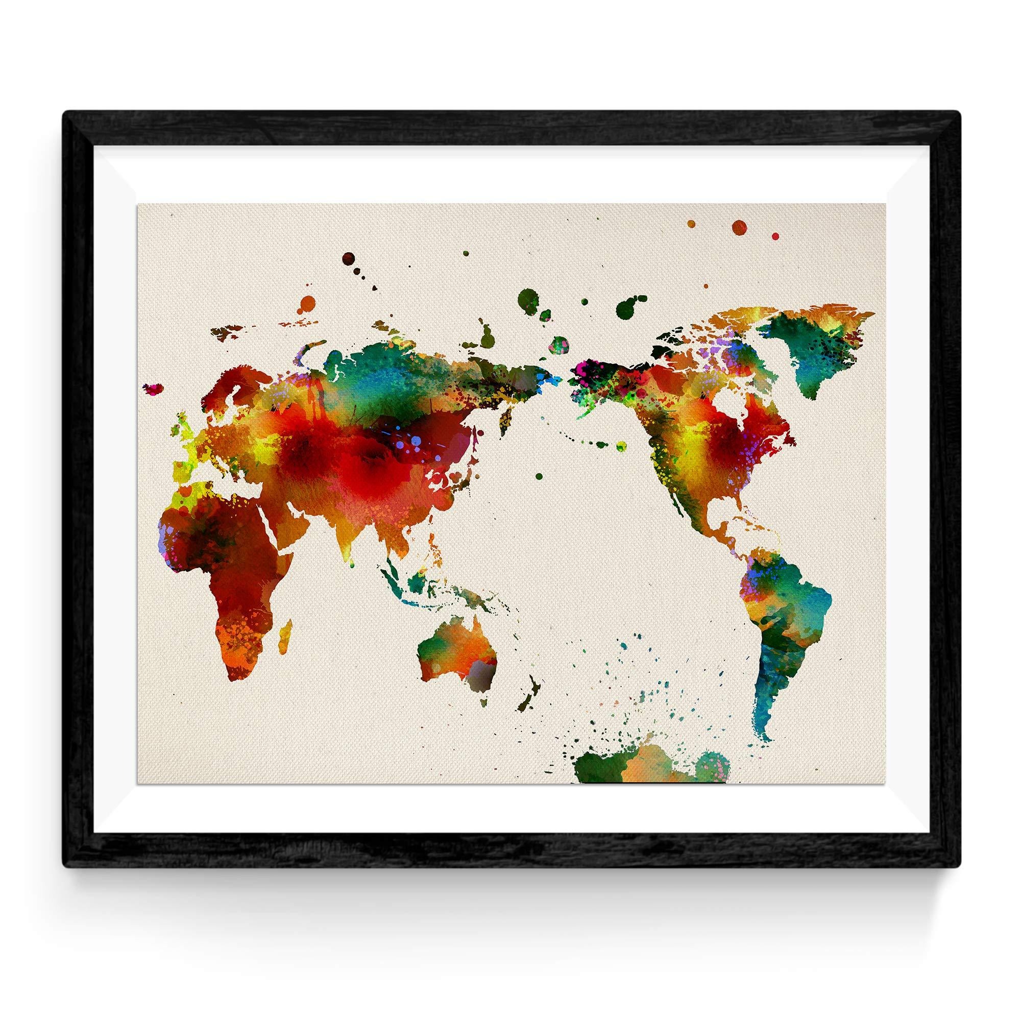 Nacnic Lámina para enmarcar MAPAMUNDI. Mapa del Mundo. Poster con ...