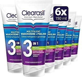 Clearasil Multitalent Waschcreme und Peeling, 6er Pack 6 x 150 ml