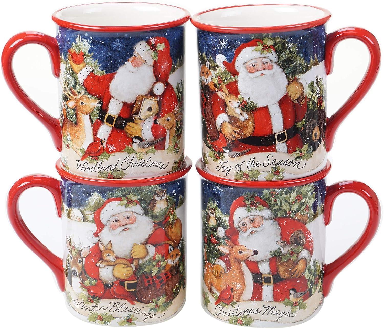 Certified Genuine International Magic Ranking TOP16 Of Christmas 16 Mugs oz. Se Santa