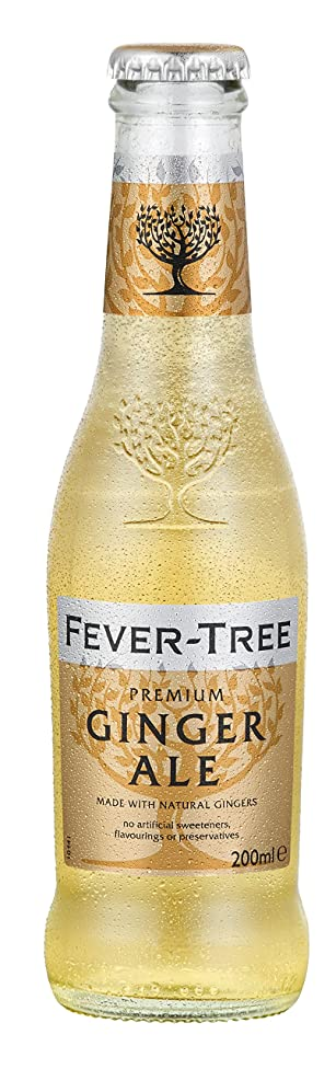 Fever-Tree Premium Ginger Ale, 6.8 Fl Oz Glass Bottle (24 Count)